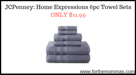 Jcpenney Home Expressions 6pc Towel Sets Only 11 99 Ftm
