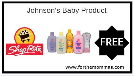 ShopRite: FREE Johnson's Baby Product Starting 11/11!