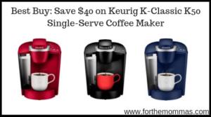 Keurig K-Classic K50 Single-Serve Coffee Maker