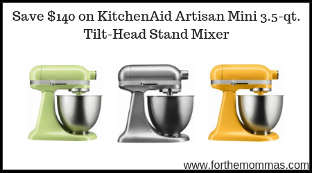 Save 140 On Kitchenaid Artisan Mini 3 5 Qt Tilt Head Stand Mixer