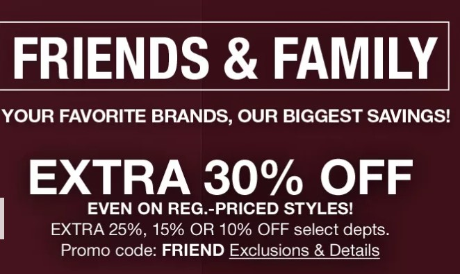 30680c921fd Friends   Family Sale at Macy s  Up to 70% Sitewide + Take an Extra 10-30%  off