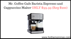 Mr. Coffee Cafe Barista Espresso and Cappuccino Maker