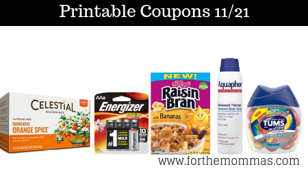 graphic relating to Aquaphor Printable Coupon named Most up-to-date Printable Discount codes 11/21: Conserve Upon Celestial Seasonings