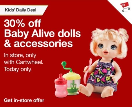 Save 30% Off Baby Alive Dolls & Accessories at Target