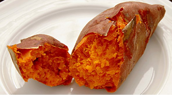 Sugary Baked Sweet Potatoes Recipe