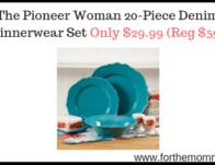 The Pioneer Woman 20-Piece Denim Dinnerwear Set