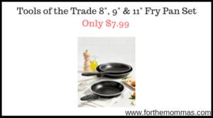 "Tools of the Trade 8"", 9"" & 11"" Fry Pan Set"
