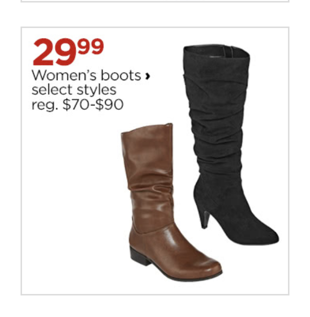 Boots For $29.99 Sale Ends Today
