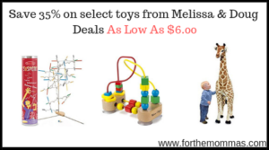 select toys from Melissa & Doug