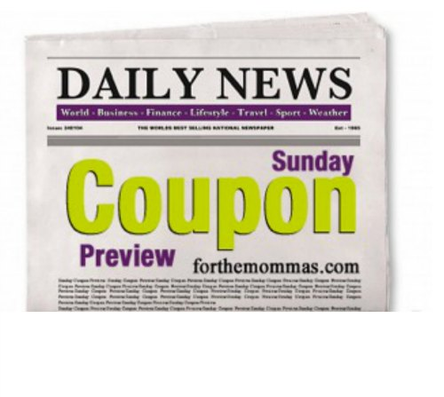 Sunday Coupon Insert Schedule 2020