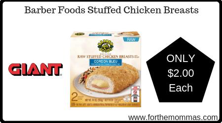 Barber Foods Stuffed Chicken Breasts
