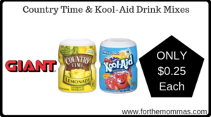 Country Time & Kool-Aid Drink Mixes