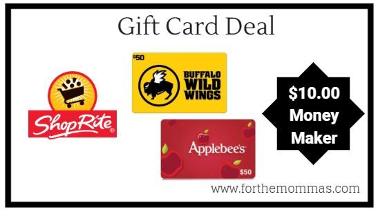 ShopRite: Gift Card Deal – $10.00 Moneymaker Starting 12/9!
