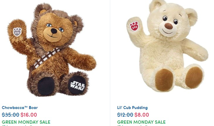 Green Monday Sale at Build-A-Bear: Select Furry Friends from $8 & $5 Clothing