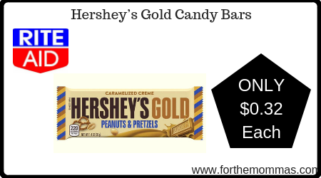 Rite Aid: Hershey's Gold Single Serve Candy Bars ONLY $0.32 Each Starting 1/20