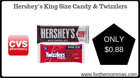 CVS: Hershey's King Size & Twizzlers ONLY $0.88 Starting 6/30