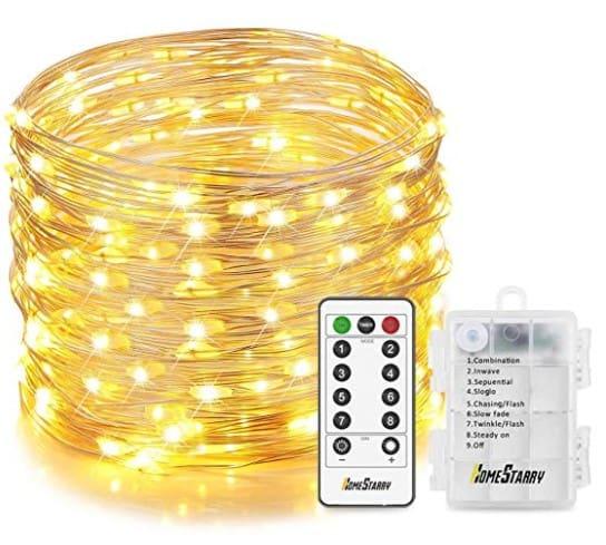 Shoprite Christmas Lights: Homestarry 132 LEDs Christmas Fairy Lights (33ft Battery