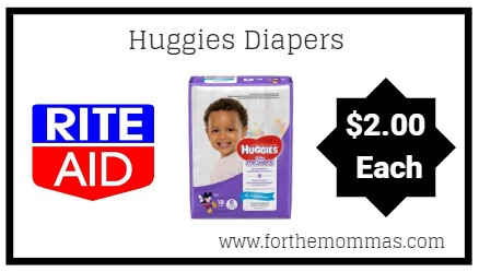 Rite Aid: Huggies Diapers ONLY $2 Each Starting 1/6!
