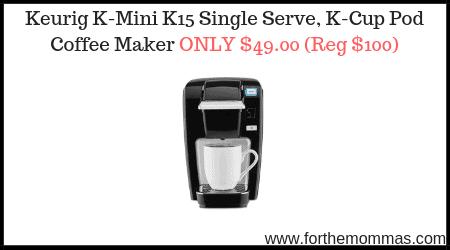Keurig K Mini K15 Single Serve K Cup Pod Coffee Maker Only 4900