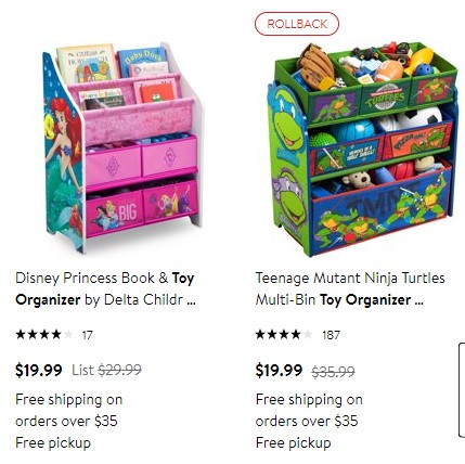 Kids Book Toy Organizers Only 19 99 At Walmart Ftm