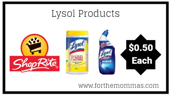 ShopRite: Lysol Cleaning Products JUST $0.50 Each Thru 3/23! {Still Available}