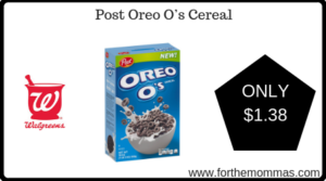 Post Oreo O's Cereal