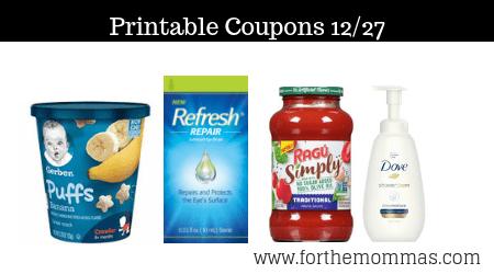 image relating to Ragu Printable Coupons named Printable Discount coupons Roundup 12/27: Help you save Upon Gerber, RAGÚ