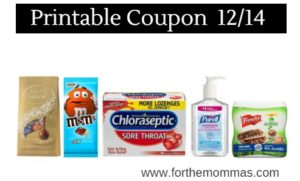 photo about Nexium Coupons Printable named Printable Coupon Roundup 12/14: Preserve Upon MMs, Lindt, Purell
