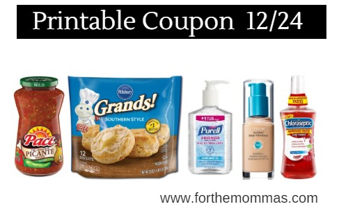 picture regarding Purell Printable Coupons identify Printable Coupon Roundup 12/24: Conserve Upon Pillsbury, CoverGirl