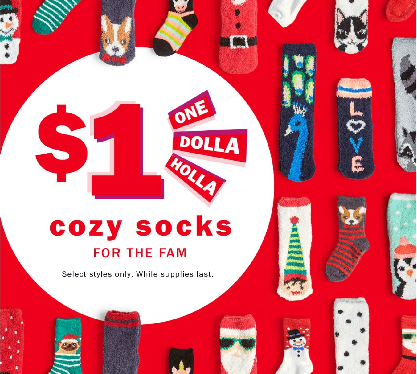 Old Navy: Cozy Socks ONLY $1 + FREE Lyft Ride for In-store Pick-up (12/22 ONLY)