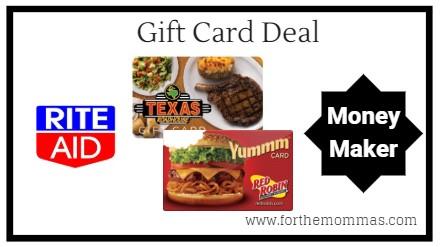 Rite Aid: Moneymaker Gift Card Deals Starting 2/3