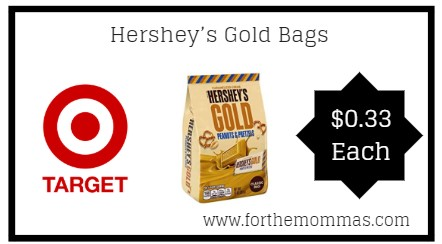 Target: Hershey's Gold Bags 10-Ounce ONLY $0.33 Thru 2/2