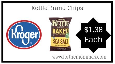 Kroger: Kettle Brand Chips ONLY $1.38 {Reg $2.99}
