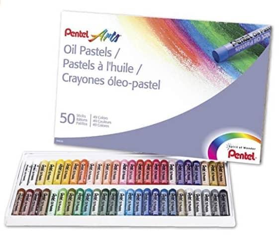 Pentel Arts Oil Pastels, 50 Color Set $3.99 (Reg $10.99)