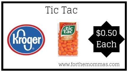 Kroger: Tic Tacs ONLY $0.50 {Reg $1.00}