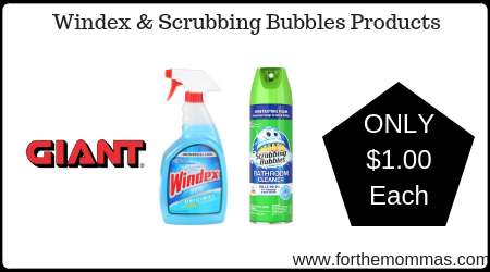 Windex & Scrubbing Bubbles Products