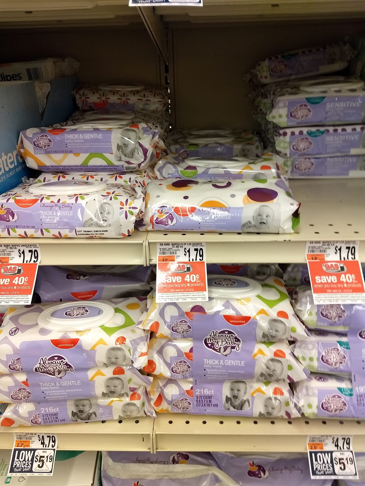 Giant Always My Baby Wipes Only 0 12 Each Thru 2 14 Ftm
