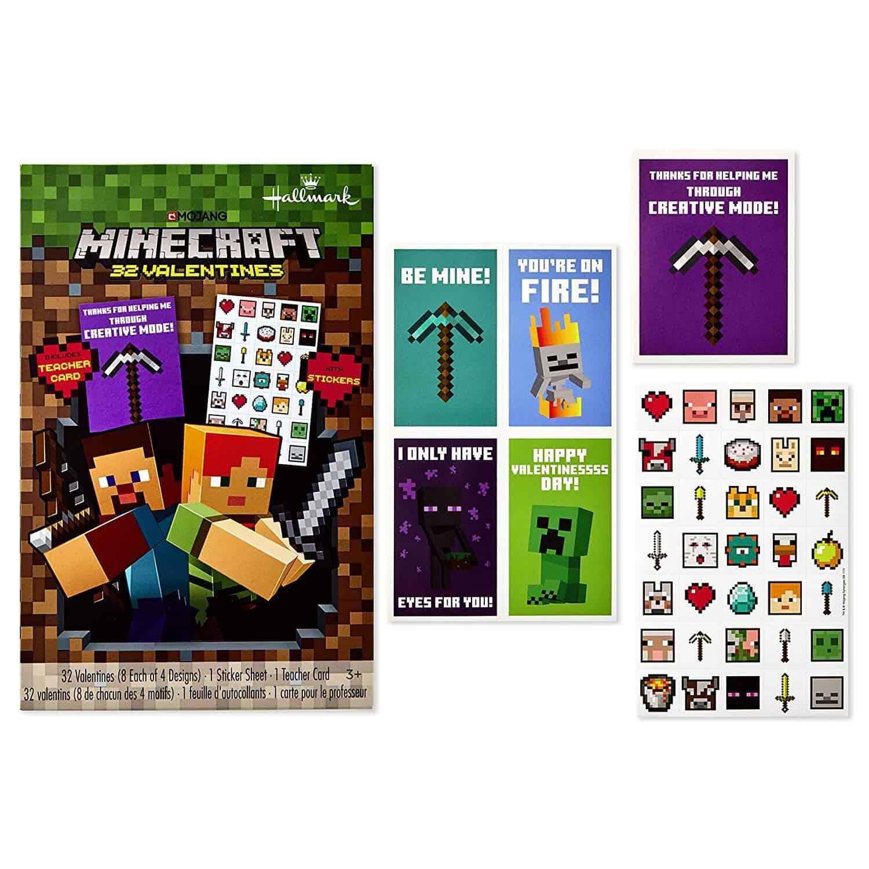 Hallmark Minecraft Valentines Day Cards for Kids $11.11