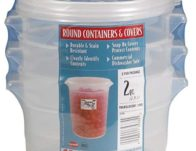 Cambro 2-Quart Round Food-Storage Container with Lid, Set of 3 $10.99 (Reg $21.60)