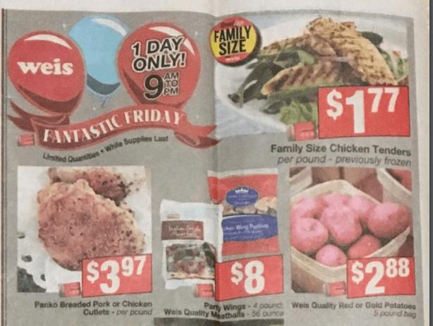 Weis Fantastic Friday Deals 02/22