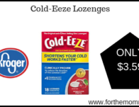 Cold-Eeze Lozenges ONLY $3.59 {Reg $6.39}