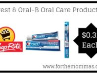 ShopRite: Crest & Oral-B Oral Care Products Only $0.32 Each Thru 3/2!