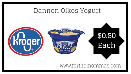 Kroger: Dannon Oikos Yogurt ONLY $0.50 {Reg $1.00}