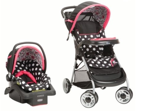 Disney Baby Minnie Mouse Lift & Stroll™ Plus Travel System $99.99 (Reg $124)