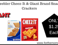 Giant: Keebler Cheez-It & Giant Brand Snack Crackers Just $1.25 Each Thru 2/28!