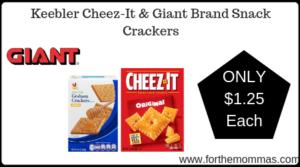 Keebler Cheez-It & Giant Brand Snack Crackers