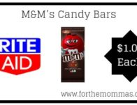 Rite Aid: M&M's Candy Bars ONLY $1 Each Starting 2/24