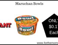 Maruchan Bowls