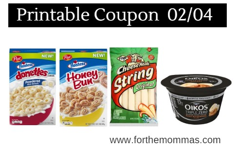 graphic relating to Post Cereal Printable Coupons named Printable Coupon Roundup 02/04: Help you save Upon Dannon, Frigo, Dial