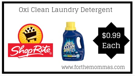 ShopRite: Oxi Clean Laundry Detergent JUST $0 99 Each